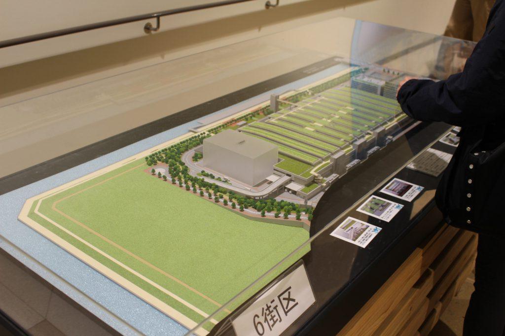 豊洲市場6街区の模型