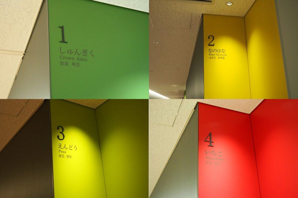 豊洲市場青果棟の番号と色