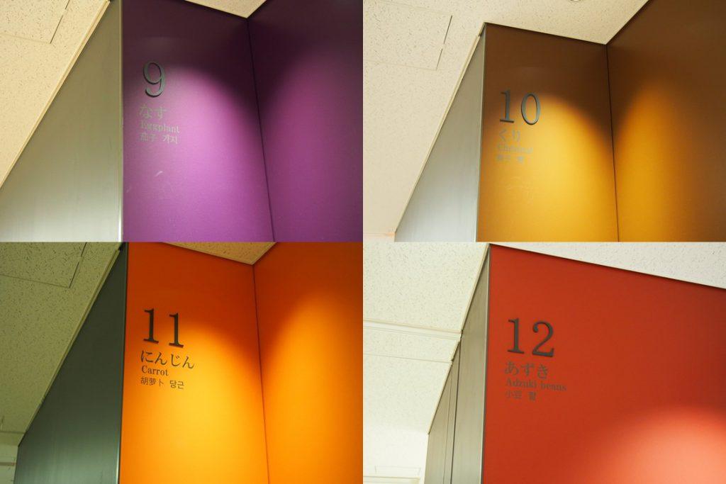 豊洲市場青果棟の色と番号3