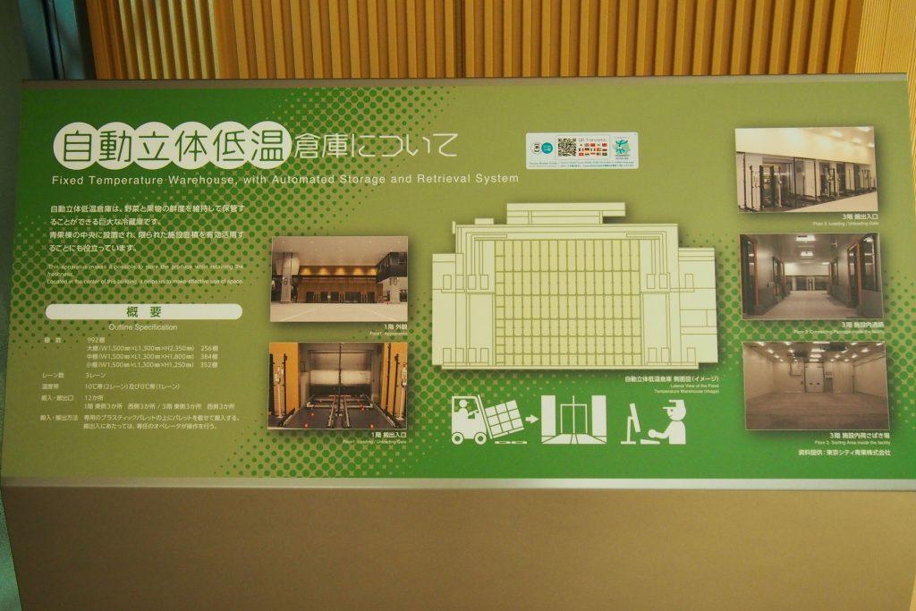 豊洲市場青果棟の『自動立体低温倉庫』
