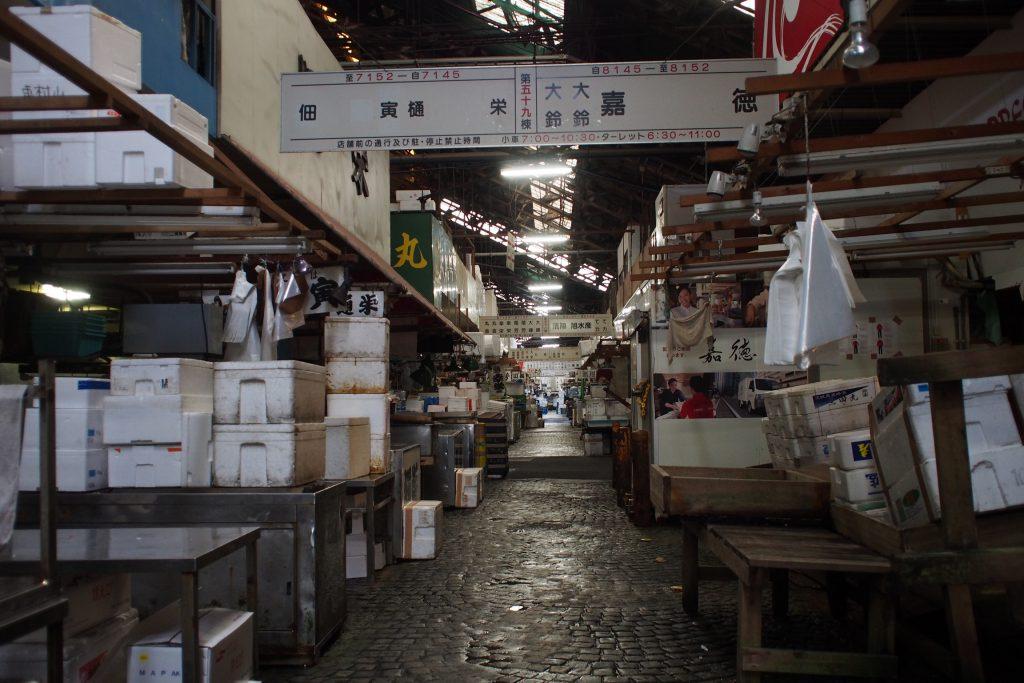 古き歴史を感じる築地市場