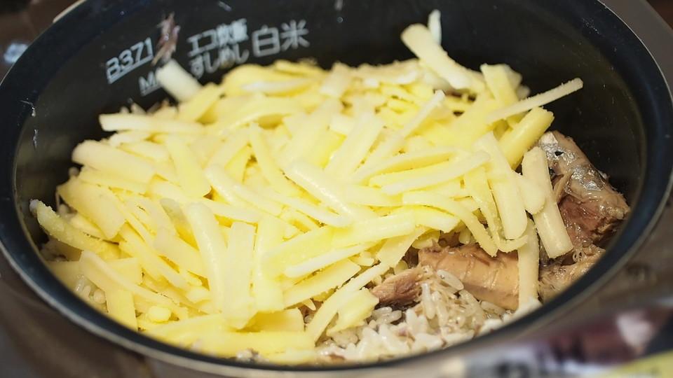 チーズは炊きあがったあと余熱でOK